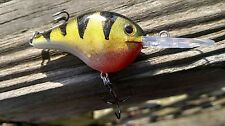 RAPALA OR LUCKY CRAFT CRANKBAIT FISH LURES CUSTOM PAINTED YELLOW PERCH SHAD