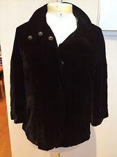 WITCHERY Soft Unstructured Black Velveteen Silk Button Collar Cocktail Jacket  6