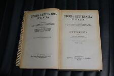 Storia letteraria d'Italia - Guido Mazzoni - Ed. Vallardi 1944 - parte prima