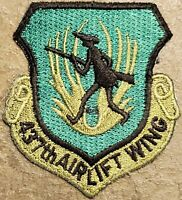 USAF Air Force 437th Airlift Wing Subdued Patch SUBDUED MILITARY VINTAGE ORG