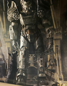 "Fallout Power Armor Poster 16"" x 14"" inch [Fallout Loot Crate Exclusive] NEW"