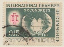 (IC-76) 1965 India 15np ICC emblem & the globe
