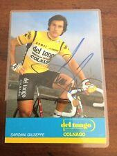 1984 Giuseppe Saronni Team Del Tongo Colnago Rider Card Autographed
