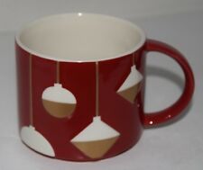 Starbucks Coffee ORNAMENT Mug Cup Holiday 2012 Christmas Red Gold Stackable
