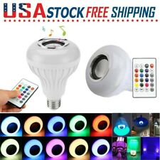 LED Wireless Bluetooth Bulb Light Speaker 12W RGB E27 Music Playing Lamp Remote