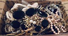 WEARABLE VInTAGE Mod 2+ LB Lot Costume Jewelry Earrings Necklace Bracelet