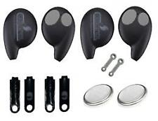 Replacement Cobra 7777 Car Alarm Remote Fob + Touch key Case shell plastic x2