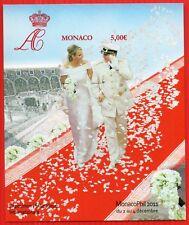 MONACO BLOC FEUILLET N. D.N°101a , MARIAGE PRINCIER TB **