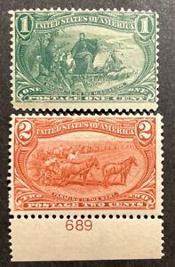 TDStamps: US Stamps Scott#285 286 Mint H OG