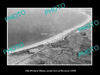 OLD POSTCARD SIZE PHOTO OLD ORCHARD MAINE, AERIAL VIEW OF THE TOWN c1940