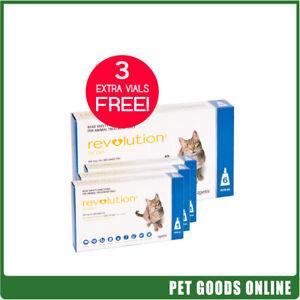 Revolution for Cats 2.6-7.5Kg Blue 6Pk + Free 3 Bonus Vials