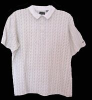 Mens Polo Shirt Size L GREG NORMAN Cotton PIQUE Leaves Golf Casual S/S