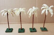 4 Vintage Nativity or Train Set Chenille Pipe Cleaner Palm Trees, Germany?