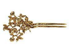 BE05020 flora metal hair slide creation - gold
