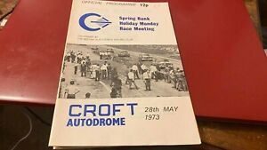 CROFT AUTODROME-SPRING HOLIDAY MONDAY--PROGRAMME---28TH MAY 1973