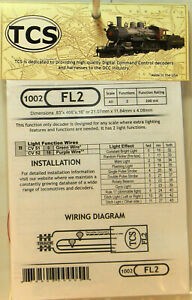 NEW All Scales TCS #1002 FL2 2 Function Lighting Decoder