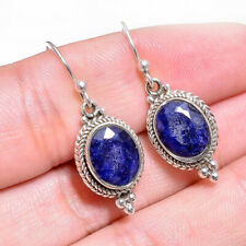 Sapphire Blue Pear Shaped Tear Drop Dangle Earrings Fashion Jewelry S