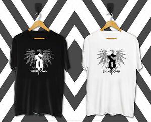 New Shinedown Brent Smith Logo Rock Band Men's T-Shirt Size S-2XL