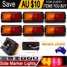 6 X LED CLEARANCE LIGHTS SIDE MARKER LAMP RED AMBER TRAILER TRUCK RV 9 - 33V