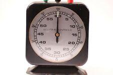 Vintage ECS Time Controls Darkroom Timer Clock Wind- Up Desk Top - Germany BLACK