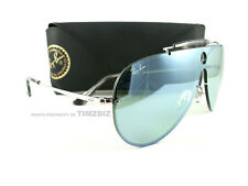 New Ray-Ban Sunglasses RB3581N Blaze Shooter 003/30 Silver Mirror Authentic