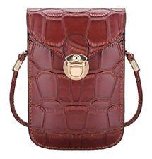 Elegante kleine Damen-Handtasche Schultertasche in Krokoleder-Optik Kunstleder
