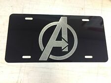Avengers LOGO Car Tag Diamond Etched on Aluminum License Plate