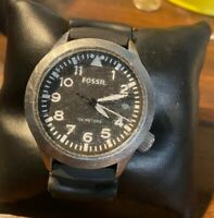 Fossil AM4908  Easy Read  WR 100  Quartz Men's Watch New Battery- Working Look