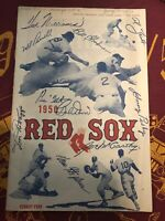 1950 Boston Red Sox Official Program and Score Card Used Boston & Chicago 7-13