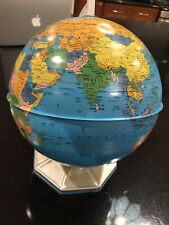 Vintage 9-Inch World Globe J. Chein & Company Metal antique Vgc Used