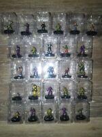 Wizkids Miniatures Lot Of 26 Action Figures Ninja Turtles Etc
