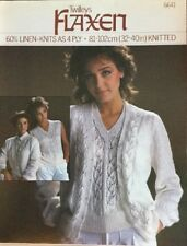 "4ply Knitting Pattern Ladies Cardigan Twinset Top Size 32/40"" Chest"