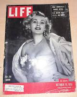 Life Magazine October 15 1951 - Zsa Zsa Gabor, Confederacy's Banner, more