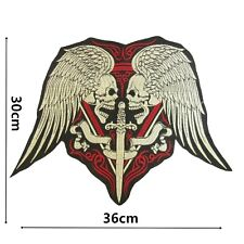 Skull Wings Large Iron On Patch Quality Back Patches Badge 30 cm x 36 cm P408