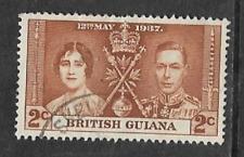 BRITISH GUIANA - KGV1 ERA USED COMMEMORATIVE STAMP - CORONATION 1937