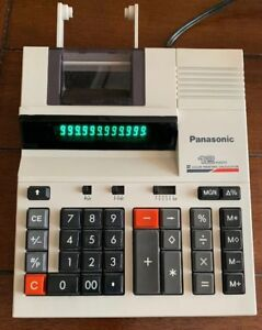 Panasonic 12 Digit Two Color Printing Calculator JE-656NP Electric Desktop