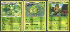 3 EVO LEAVANNY+SWADLOON+SEWADDLE - XY Phantom Forces Pokemon Card REV HOLO MINT