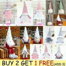 Nordic Santa Gonk Christmas Gnome Doll Xmas Tree Hanging Decoration Gift UK