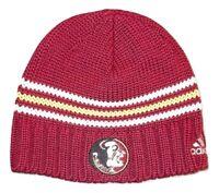 adidas Florida State Seminoles FSU Knit Cap Stripe Beanie Hat