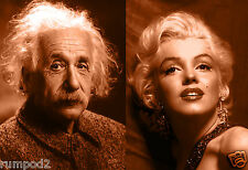 Albert Einstein and Marilyn Monroe Poster/Photo Art Print/13x19