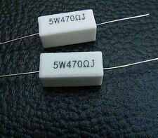 470 Ohm 5W 6L6 Cathode Resistors for Fender Champ Valve Guitar Amplifier 470R