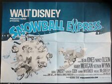 SNOWBALL EXPRESS ORIGINAL 1972 QUAD POSTER DEAN JONES NANCY OLSEN DISNEY