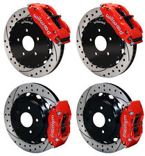 "WILWOOD DISC BRAKE KIT,FITS 09-13 NISSAN 370Z,07-12 G37,07-08 G35,13"" DRILL,RED"