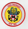 USS Papago ATF-160 Fleet Tug Boat - 4 inch FE BC Patch Cat No C6410