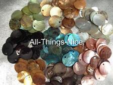 Perles naturelles shell 15mm teints perles fabrication de bijoux Conclusions wholesale lot 100