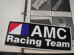 AMC Racing Team DECAL AMX Javelin Jeep Gremlin Hornet CJ5 CJ7 Spirit BARGAIN