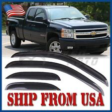 US Window Visors Rain Sun Vent Guard For Silverado/Sierra Extended Cab 07-13 FM