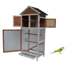 Bird Cage Wooden Cockatiel Parakeet Canary Finch Conure Play House Pet Supply