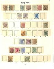 [OP3293] Hong Kong lot of stamps on 4 pages