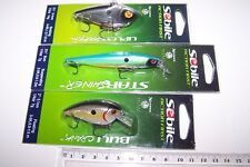 SEBILE Fishing lures lot of 3 mixed types, high quality lures, new. Bass, Lot 2*